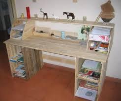 construire bureau faire un bureau en bois de palette des modèles
