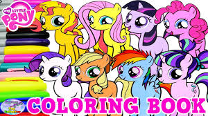 my little pony coloring book mane 6 filly compilation mlp surprise