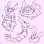 dyst bunny sketches by mintglowu on deviantart