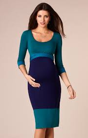 colour block maternity dress biscay blue maternity wedding
