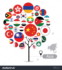 flags asia stock vectors u0026 vector clip art shutterstock great