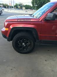 jeep patriot off road tires goodyear duratrac 225 75 16s no lift jeep patriot forums
