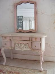 vintage french provincial vanity painted in annie sloan old ochre