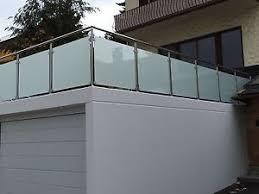balkon edelstahlgel nder balkongeländer edelstahl vsg glas balkon geländer ebay