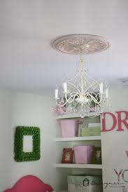 What Size Ceiling Medallion For Chandelier Diy Ceiling Medallion To Hide A Ceiling Flaw Designer Trapped In
