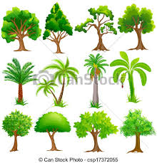 clipart vector of tree collection easy to edit vector