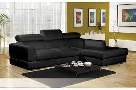 canapé d angle convertible avec tetiere canapé d angle cuir pu avec têtières lena blanc noir chocolat