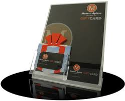 gift card display point of sale accessories for ready theatre systems gift cards