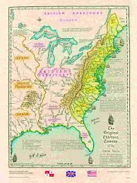 Big Map Of North America by Us Historical Series