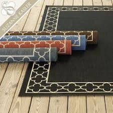 Suzanne Kasler Quatrefoil Border Indoor Outdoor Rug Medallion Outdoor Rug Is Constructed To Withstand The Ravages Of
