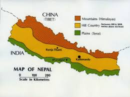Map Nepal India by 01 Nepal Landforms