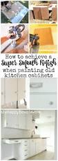 How To Refinish Kitchen Cabinets With Paint How To Achieve A Super Smooth Finish When Painting Old Kitchen