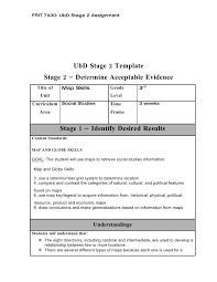ubd stage 2