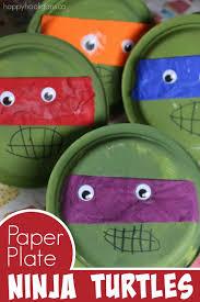 paper plate teenage mutant ninja turtles happy hooligans