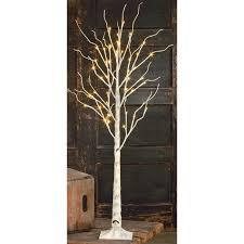 loon peak indoor birch led lighted tree reviews wayfair ca