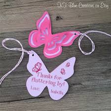 butterfly thank you tags favor tags gift tags personalized