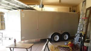 2009 frontier 7x16 enclosed v nose cargo trailer with r door
