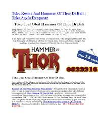 hammer of thor di bali klinikobatindonesia com agen resmi vimax