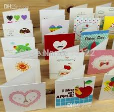 creative small blessing thanks greeting cards wholesale