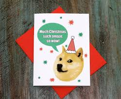 Doge Meme Christmas - doge meme birthday card