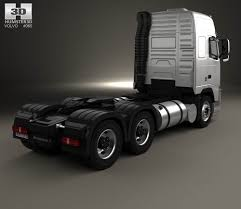 volvo truck models volvo fh tractor truck 3 axle 2008 3d model hum3d