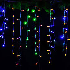 shooting star icicle lights alluring home garden outdoor wall party window decorations for