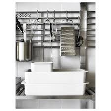 kitchen shelf storage ikea kungsfors wall rack stainless steel