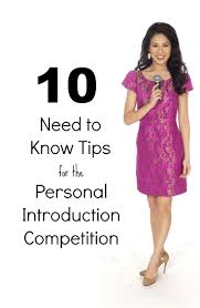 helpful tips for national american miss personal introduction