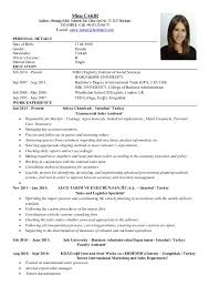Resume In English Examples by Mirac Cakir Cv 1