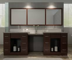 Glass Vanity Table With Mirror Bathroom Double Sink Vanity With Makeup Table Using Grey Marble
