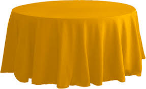 Banquet Table Linen - round gold tablecloths