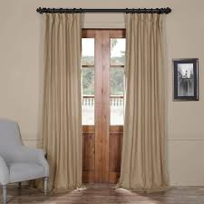 buy flax beige french linen curtain half price drapes