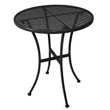 Black Bistro Table Bolero Black Steel Patterned Bistro Table Black 600mm