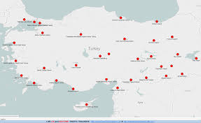 Map Of International Airports Map Map Of International Airports In Turkey