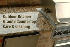 outdoor kitchen countertop maintenance