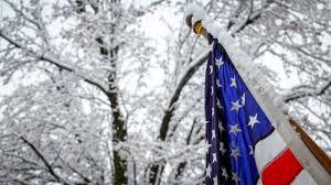 Outside Flag U S Flag In The Snow Fema Gov