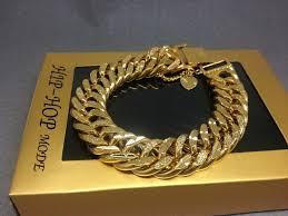 silver chain link charm bracelet images New mens iced out cz yellow gold silver finish miami cuban link jpg