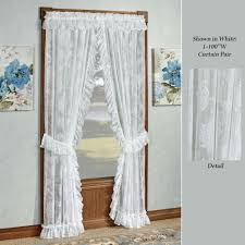 Curtains With Ruffles Lace Curtains Touch Of Class