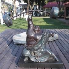 hercules lifting copper sculpture crafts sculpture