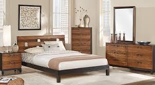 Platform Bed Sets Gardenia Honey 7 Pc Platform Bedroom Bedroom Sets