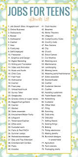 Teenage Job Resume by Best 25 Teen Jobs Ideas On Pinterest Youth Jobs Accounting