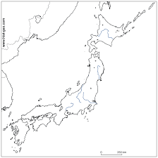 outline map of japanese rivers