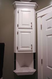 Bathroom Countertop Storage by Bathroom Custom Recessed Corner Bathroom Storage Cabinet Ideas