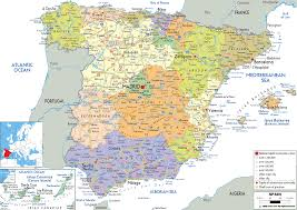 Map Of Southern Italy by Map Of Spain A Southern European Country Map Includes Cities