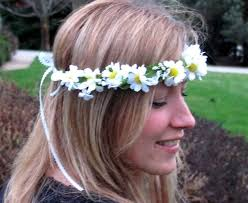 hippie flower headbands 70 s headband hippie make not war