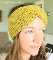 knitted headband turban style knit headband pattern simplymaggie to make