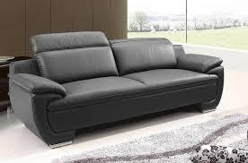 canapé en cuir italien canap fixe 3 places en cuir coloris noir vente de g 582133