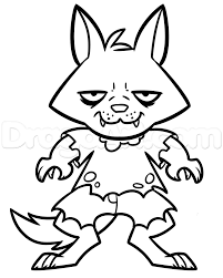 halloween line drawings how to draw a halloween werewolf for kids step by step halloween