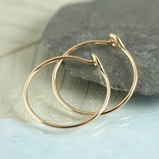 gold sleeper earrings sycamoon gold hoops 14 ct gold fill sleeper earrings