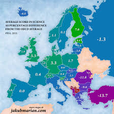 Map Of Italy And Spain by Pisa Results In Science Reading And Mathematics In Europe